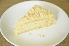 蛋糕拿破仑 免版税库存照片