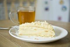 蛋糕拿破仑 图库摄影
