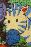蛋糕斑马 免版税库存照片