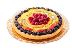蛋糕新鲜水果 库存照片