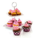 蛋糕杯形蛋糕分层堆积许多 免版税库存图片