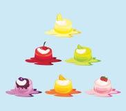 蛋糕果冻向量 免版税库存照片