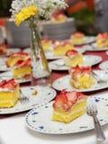 蛋糕果子隔离白色 库存图片