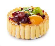 蛋糕果子隔离白色 库存照片