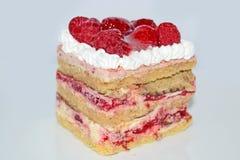 蛋糕果子隔离白色 免版税库存照片