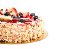 蛋糕果子隔离白色 免版税图库摄影