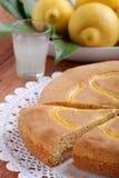 蛋糕柠檬 免版税库存照片