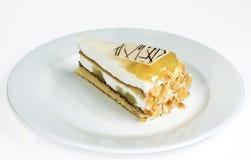 蛋糕桃子 免版税库存图片