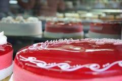 蛋糕桃红色甜点 免版税库存照片
