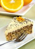 蛋糕桔子 图库摄影