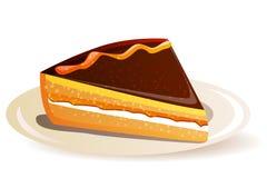 蛋糕桔子 免版税库存图片
