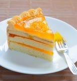 蛋糕桔子 免版税库存照片