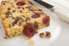蛋糕椰子果子片式 库存图片