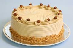 蛋糕榛子奶油甜点 免版税图库摄影