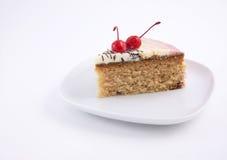 蛋糕樱桃 库存照片