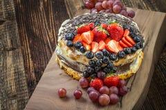 蛋糕欢乐果子 库存图片