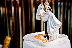 蛋糕油漆工婚礼 免版税库存照片