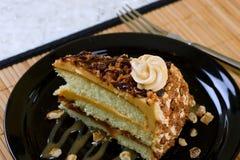 蛋糕焦糖 免版税库存图片