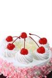 蛋糕牛奶草莓 库存图片
