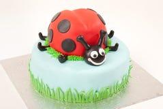 蛋糕瓢虫 库存照片