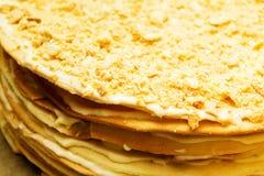 蛋糕甜点拿破仑 免版税库存图片
