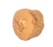 蛋糕用在白色隔绝的杏仁 免版税库存图片