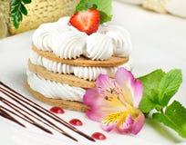 蛋糕用新鲜的莓果 免版税图库摄影