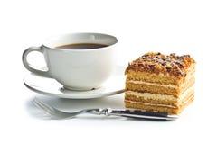 蛋糕用核桃和蜂蜜 库存照片