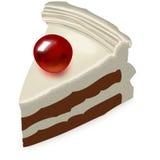 蛋糕用樱桃 免版税库存图片