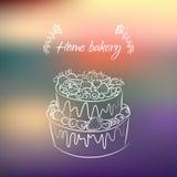 蛋糕用浆果 图库摄影