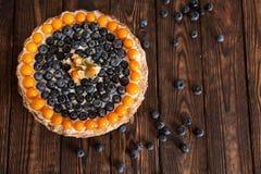 蛋糕用浆果 免版税库存照片