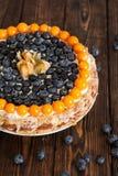 蛋糕用浆果 库存图片