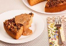 蛋糕用甜调味汁 图库摄影