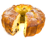 蛋糕用苹果、梨和葡萄干 库存图片