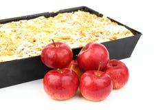 蛋糕用苹果 免版税库存照片