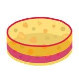 结冻蛋糕用莓果-草莓,黑莓和其他 平的样式 库存图片