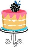 蛋糕用莓果 免版税库存图片