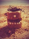 蛋糕由沙子制成 图库摄影