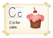 蛋糕的一封信件C 免版税库存图片