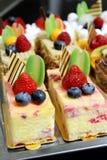蛋糕的不同的类型 免版税库存图片