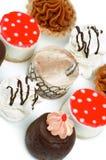蛋糕的排列 免版税库存图片