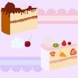 蛋糕礼品券或邀请 库存照片