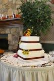 蛋糕秋天婚礼 库存图片