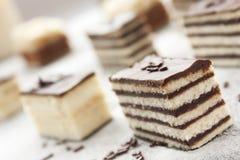 蛋糕种类 免版税库存图片