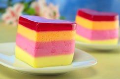 蛋糕称重点helada秘鲁形状的torta 免版税库存图片