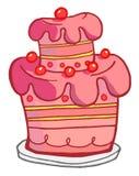 蛋糕粉红色 库存图片