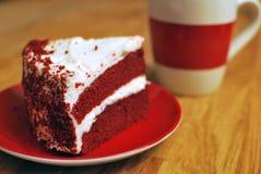 蛋糕红色天鹅绒 免版税图库摄影