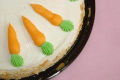 蛋糕红萝卜 图库摄影
