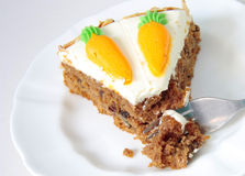 蛋糕红萝卜 免版税库存照片