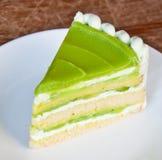 蛋糕绿色部分茶 图库摄影